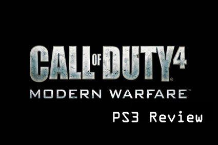 COD4 PS3 Review Logo